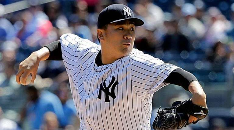 Masahiro Tanaka allowed three runs (two earned) and