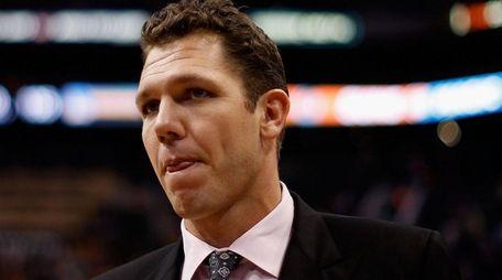 Interim head coach Luke Walton of the