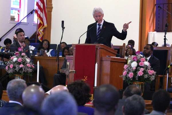 Former president Bill Clinton, campaigning for his wife,