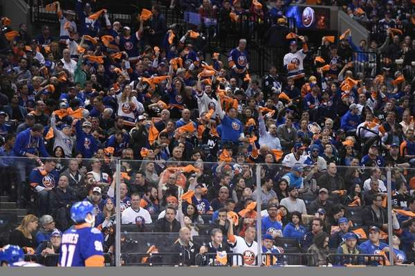New York Islanders fans wave rally towels against