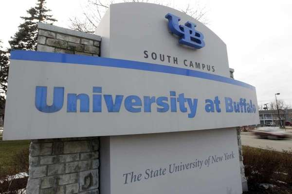 A University at Buffalo sign is seen on
