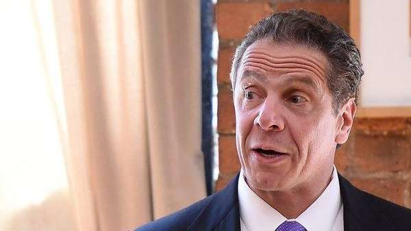 Gov. Andrew M. Cuomo speaks at the Juror