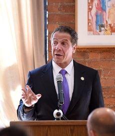 Gov. Andrew M. Cuomo speaks at the Juror