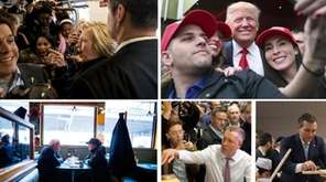 Presidential candidates campaigning in New York before the