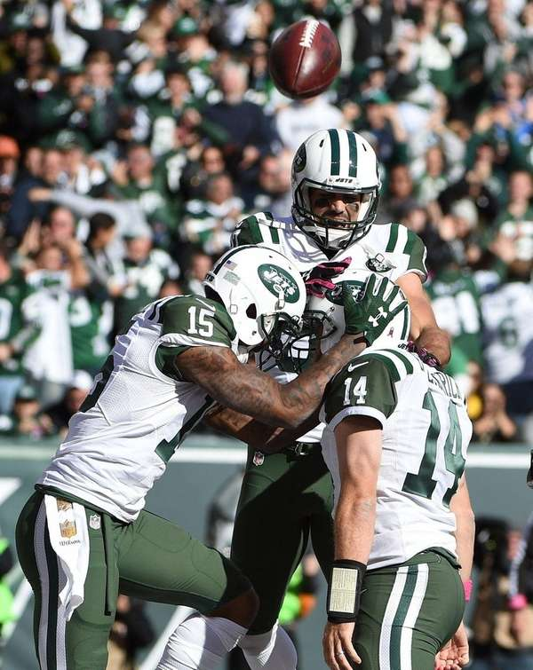 New York Jets wide receivers Brandon Marshall