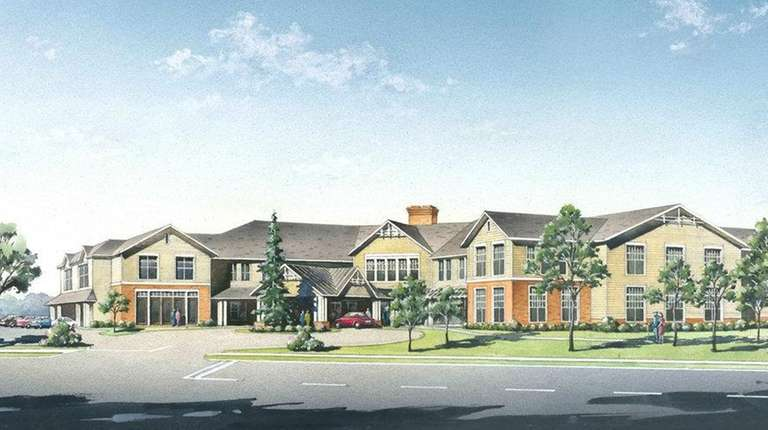 A rendering shows the proposed Benchmark Senior Living