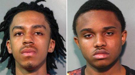 Kevin Franklin, 19, left, and Erving Pierre-Louis, 18