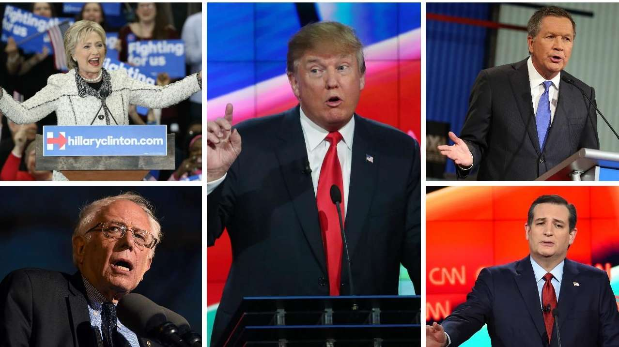 All five remaining presidential hopefuls are hoping to