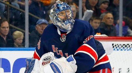 Henrik Lundqvist of the New York Rangers
