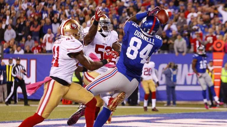 Larry Donnell #84 of the New York Giants