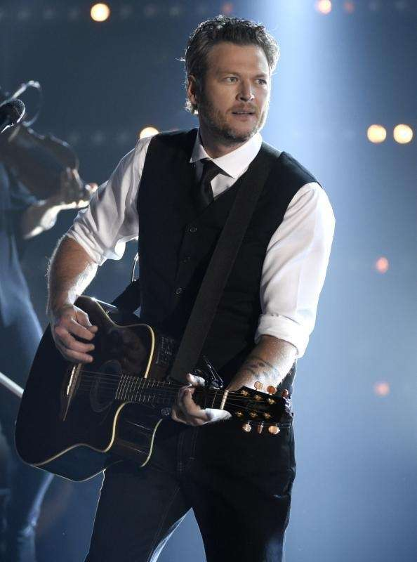 Blake Shelton performs at the 49th annual CMA
