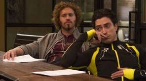 T.J. Miller and Ben Feldman in HBO's