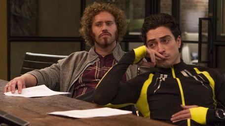 T.J. Miller and Ben Feldman in HBO's