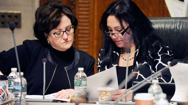 State Education Commissioner MaryEllen Elia, left, and
