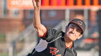 Carey pitcher Tim Cassese throws during a Nassau
