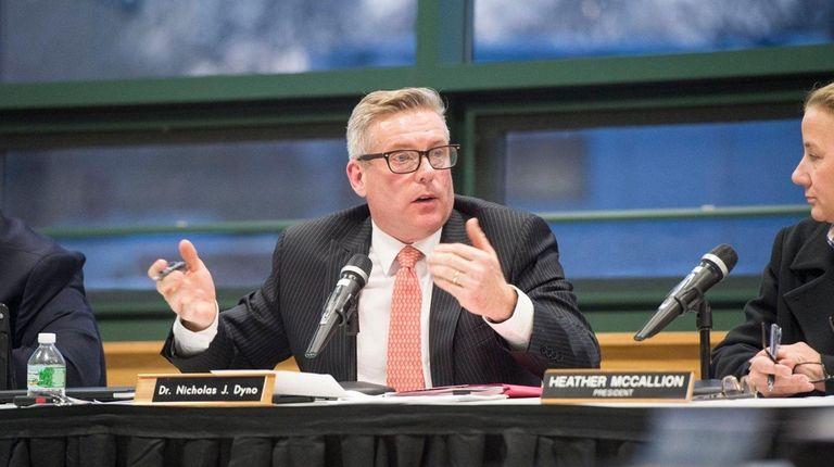 Nicholas Dyno, the interim Southampton district superintendent, speaks