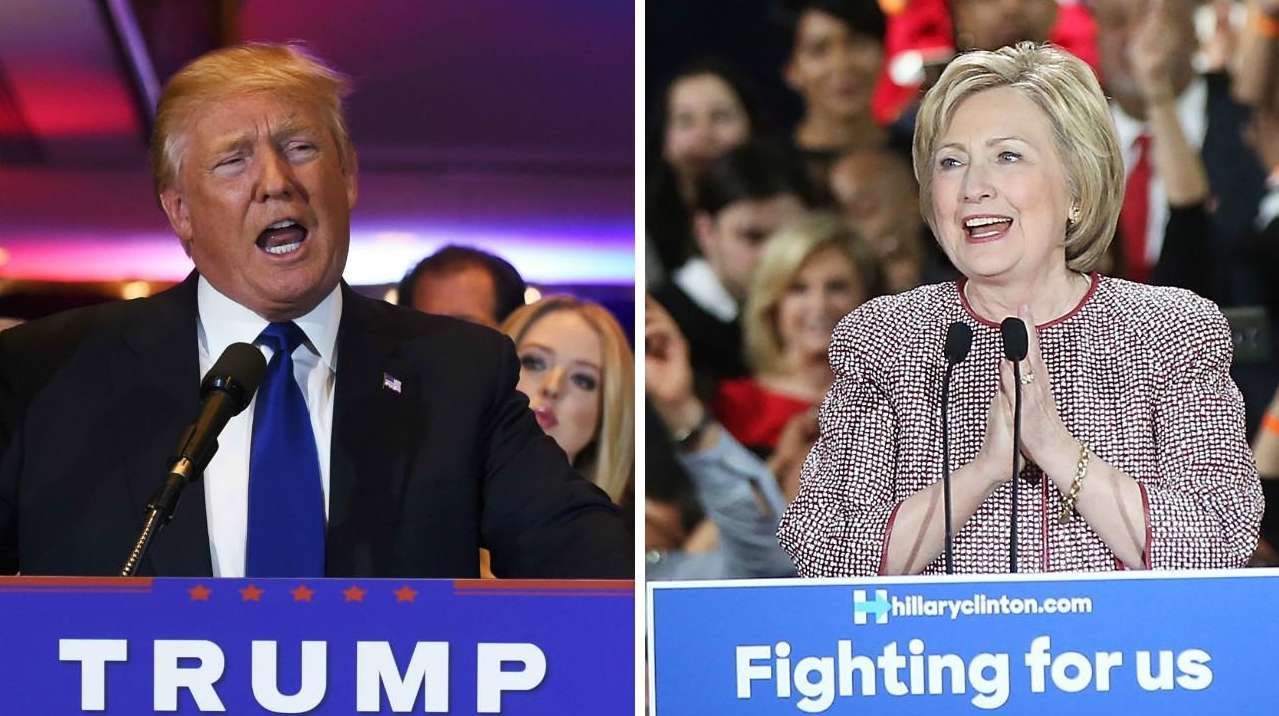 Donald Trump and Hillary Clinton addressed supporters after