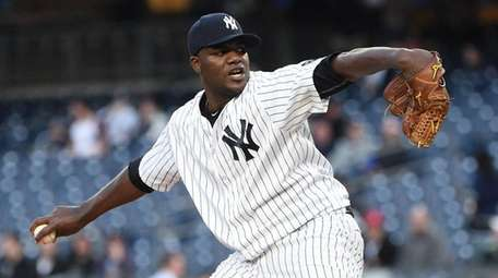 New York Yankees' Michael Pineda delivers a pitch