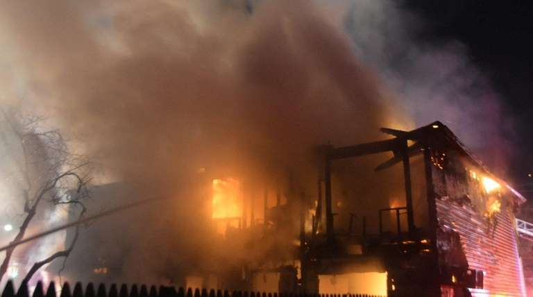 A fire was reported at a house