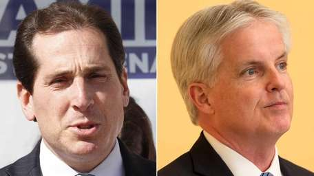 Democrat Todd Kaminsky, left, led Republican Chris McGrath