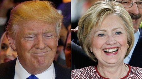 Republican Donald Trump and Democrat Hillary Clinton both