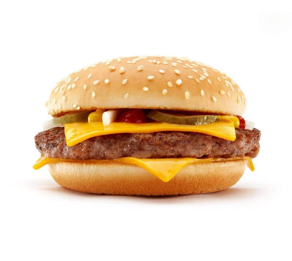 The McDonald's Quarter Pounder with cheese.