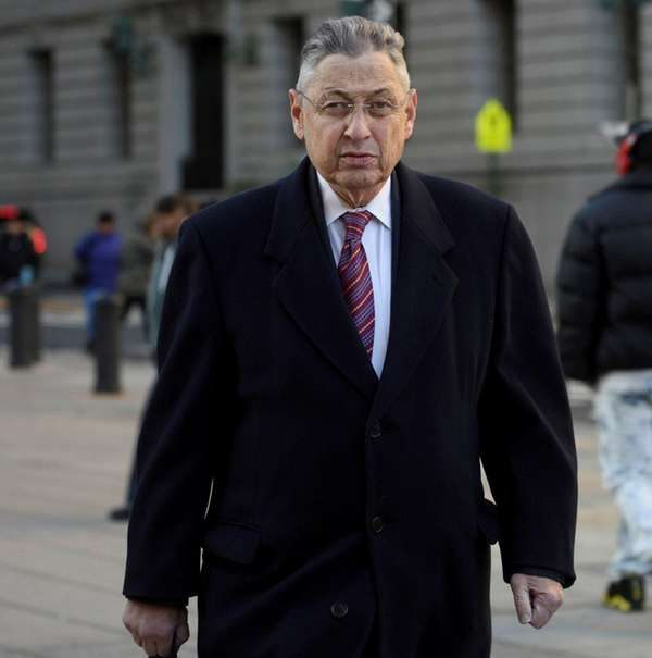 Former State Assembly Speaker Sheldon Silver arrives at