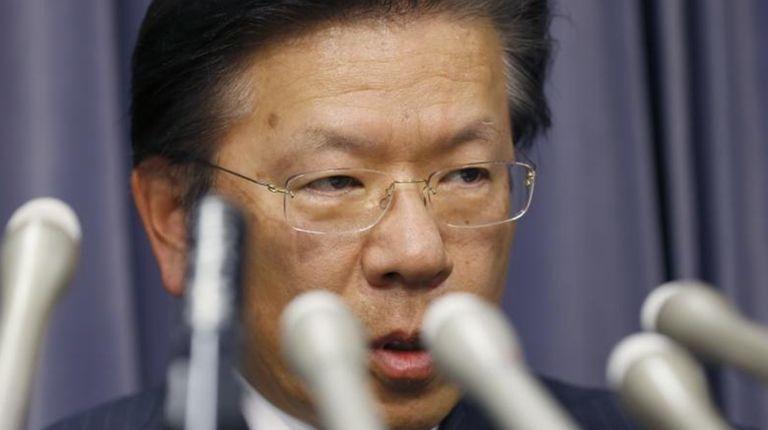Mitsubishi Motors President Tetsuro Aikawa speaks during a