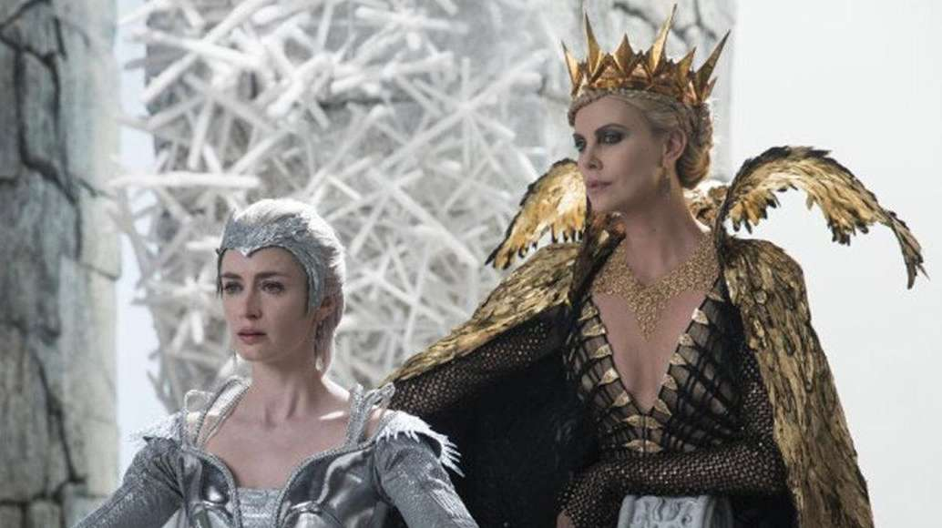 Emily Blunt, left, and Charlize Theron are sister