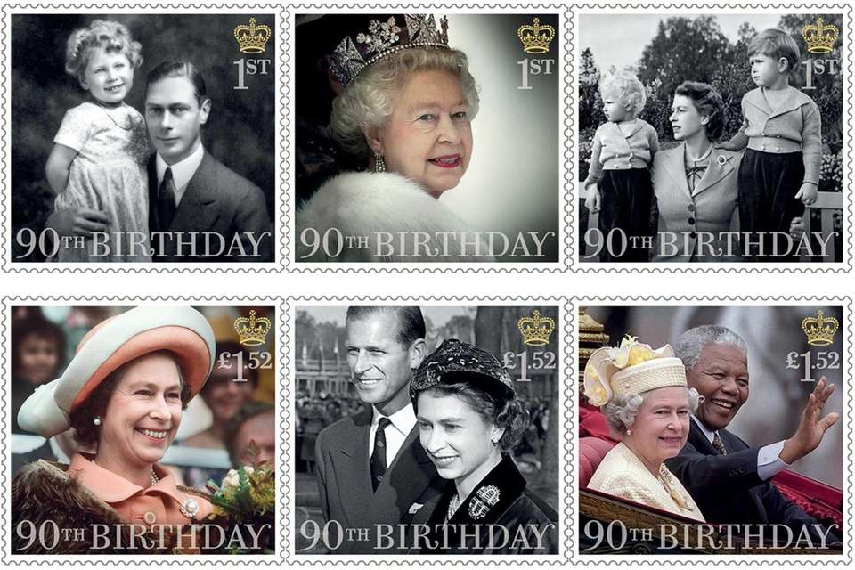 Six stamps were issued to mark the 90th