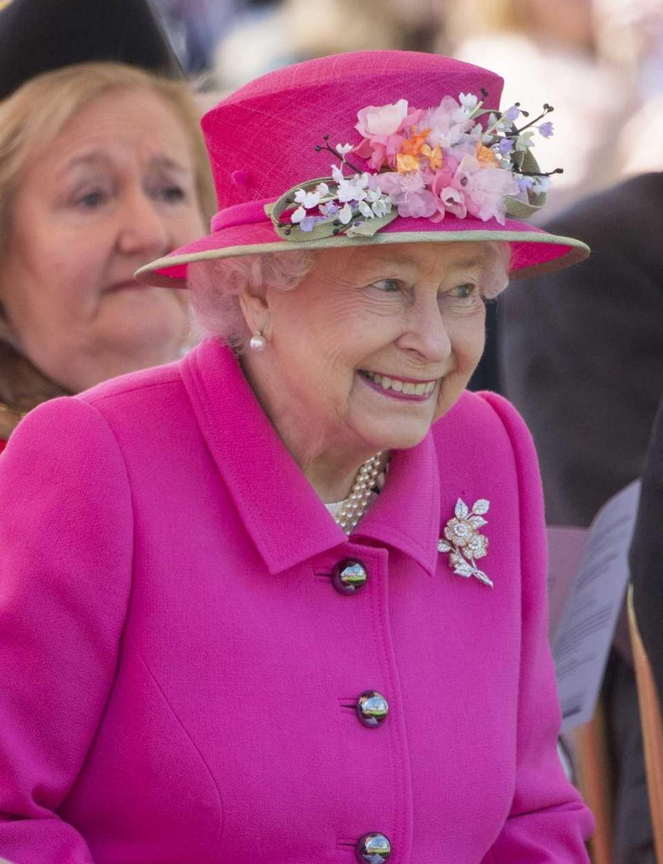 Queen Elizabeth II attends the opening of the