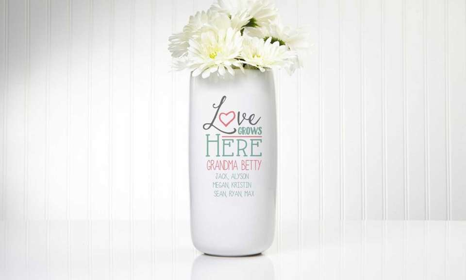 Personalize this vase for your mother or grandmother,