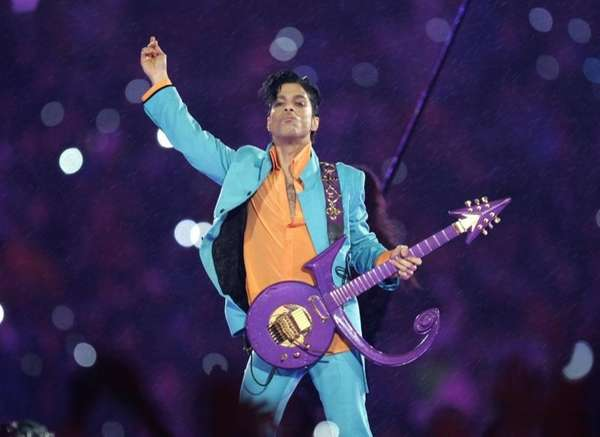 Prince performs during the Super Bowl XLI halftime