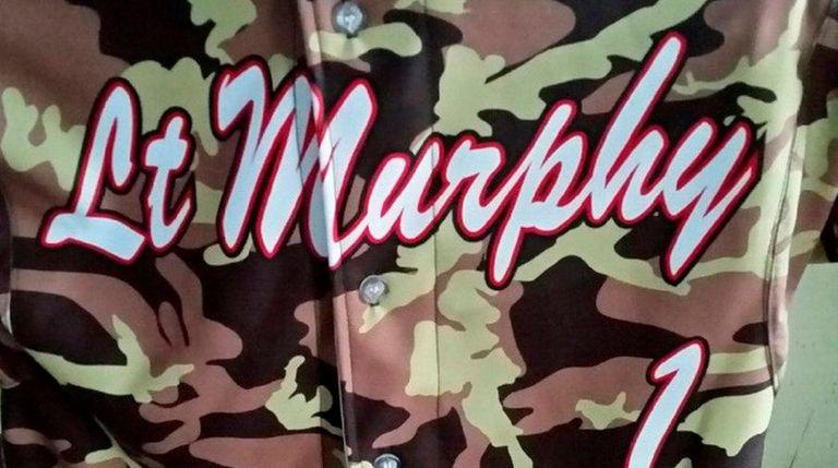 Patchogue-Medford alternate jersey honoring Lt. Michael P. Murphy
