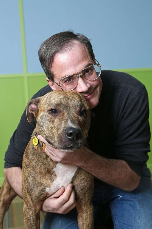 Marc Morrone and Chief, his pit bull