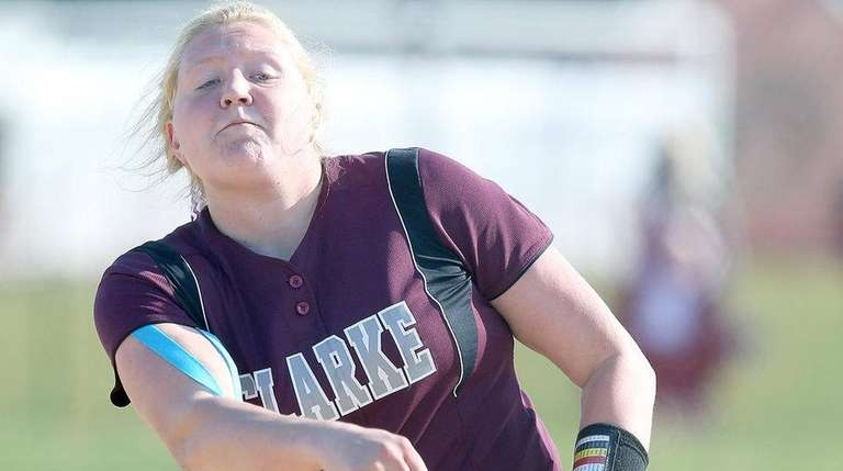 Clarke's Sarah Cornell struck out 15, setting the