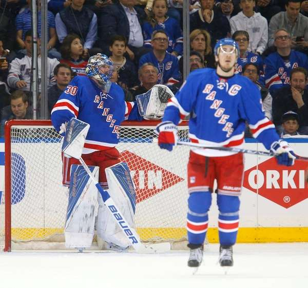 Henrik Lundqvist, left, and Ryan McDonagh of the