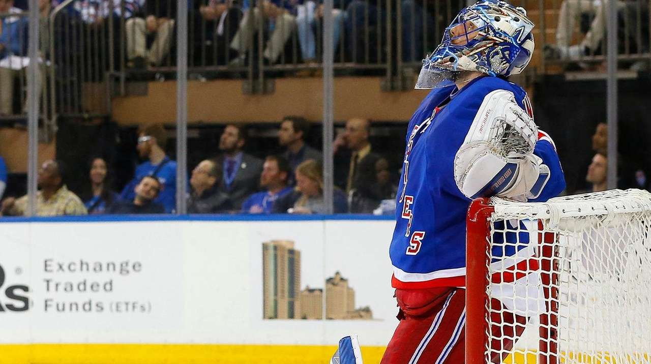 Henrik Lundqvist of the New York Rangers
