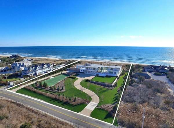 This newly constructed oceanfront home in Quogue has