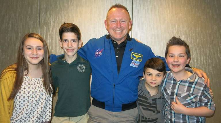 Astronaut Barry 'Butch' Wilmore with Kidsday reporters, from