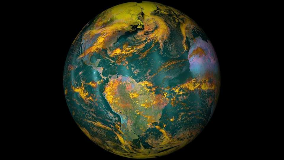 This NOAA/NASA image released Friday, April 22, 2016,