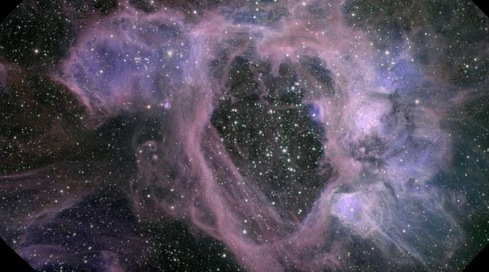 A vast bubble in the Large Magellanic Cloud