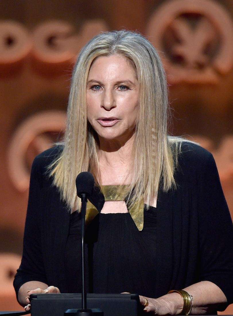 Entertainer Barbra Streisand speaks onstage at the 67th