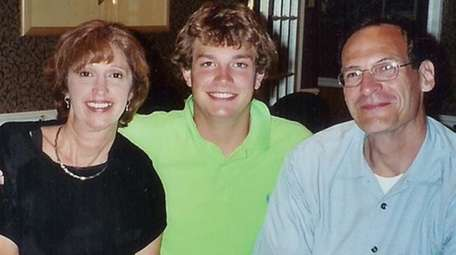 Matthew Murr and his parents.
