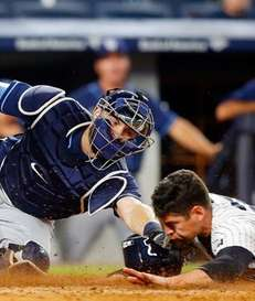 Curt Casali of the Tampa Bay Rays is