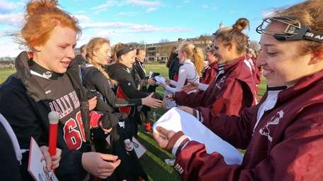 The Bay Shore High School girls lacrosse team