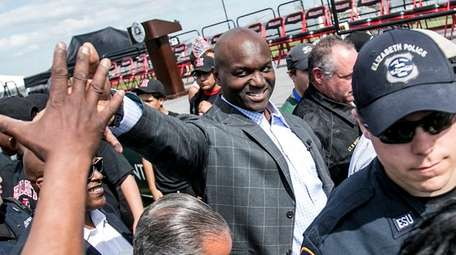 Todd Bowles leaves an event renaming a renovated