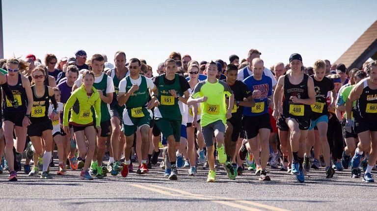 The 10th annual four-mile Jigsaw Run, which began