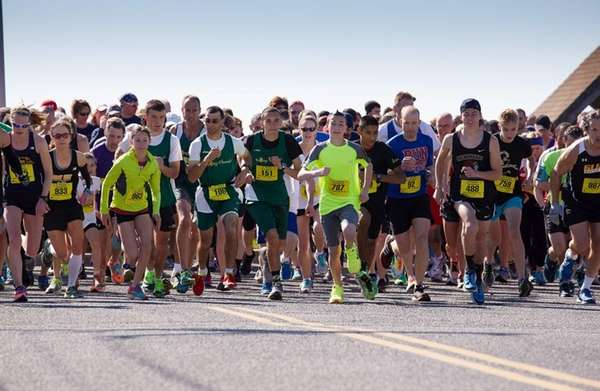 The 10th annual four-mile Jigsaw Run, which began