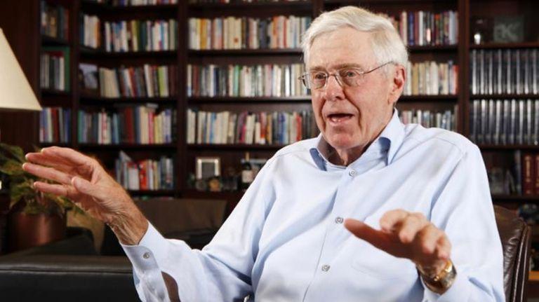 Charles Koch speaks in his office at Koch